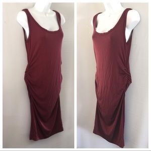 Robert Rodriguez Stretch Ruched Skinny Tank Dress
